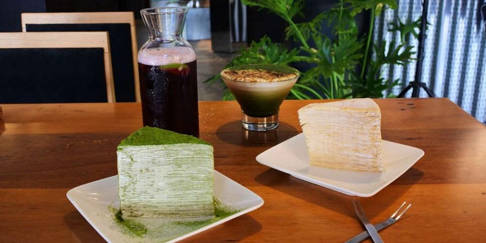 台南甜點【兜空間】限量楓糖&抹茶千層蛋糕.堪稱千層蛋糕界中的101.結合藝品小物咖啡廳