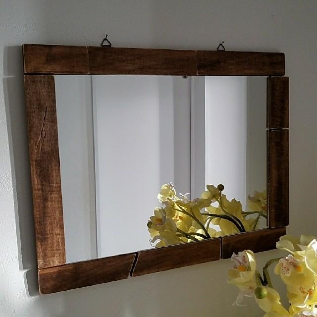 壁掛けミラー 鏡 DIYの通販 by わっとこ's shop|ラクマ