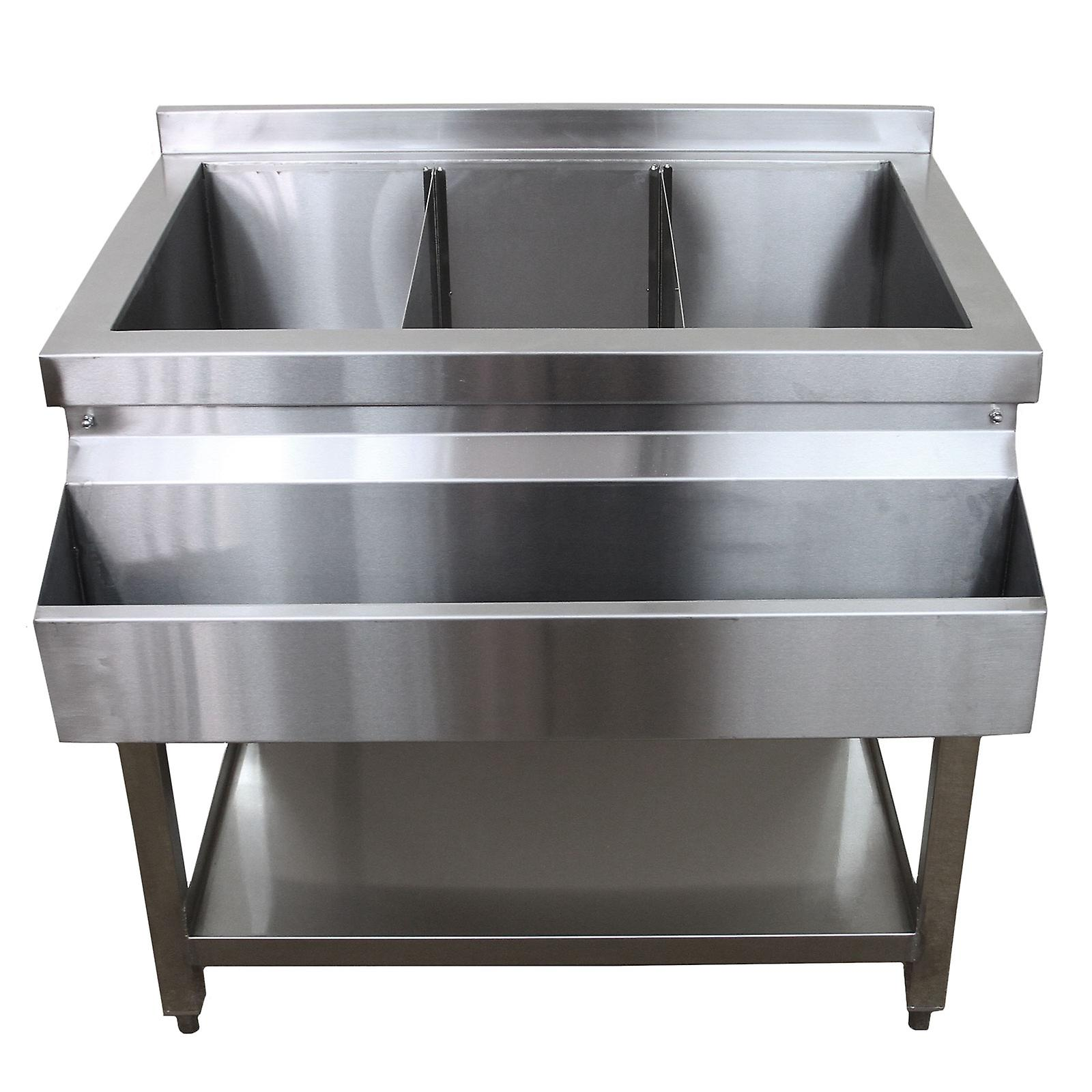 cocktail bar station free standing stainless steel bar sink insulated ice well
