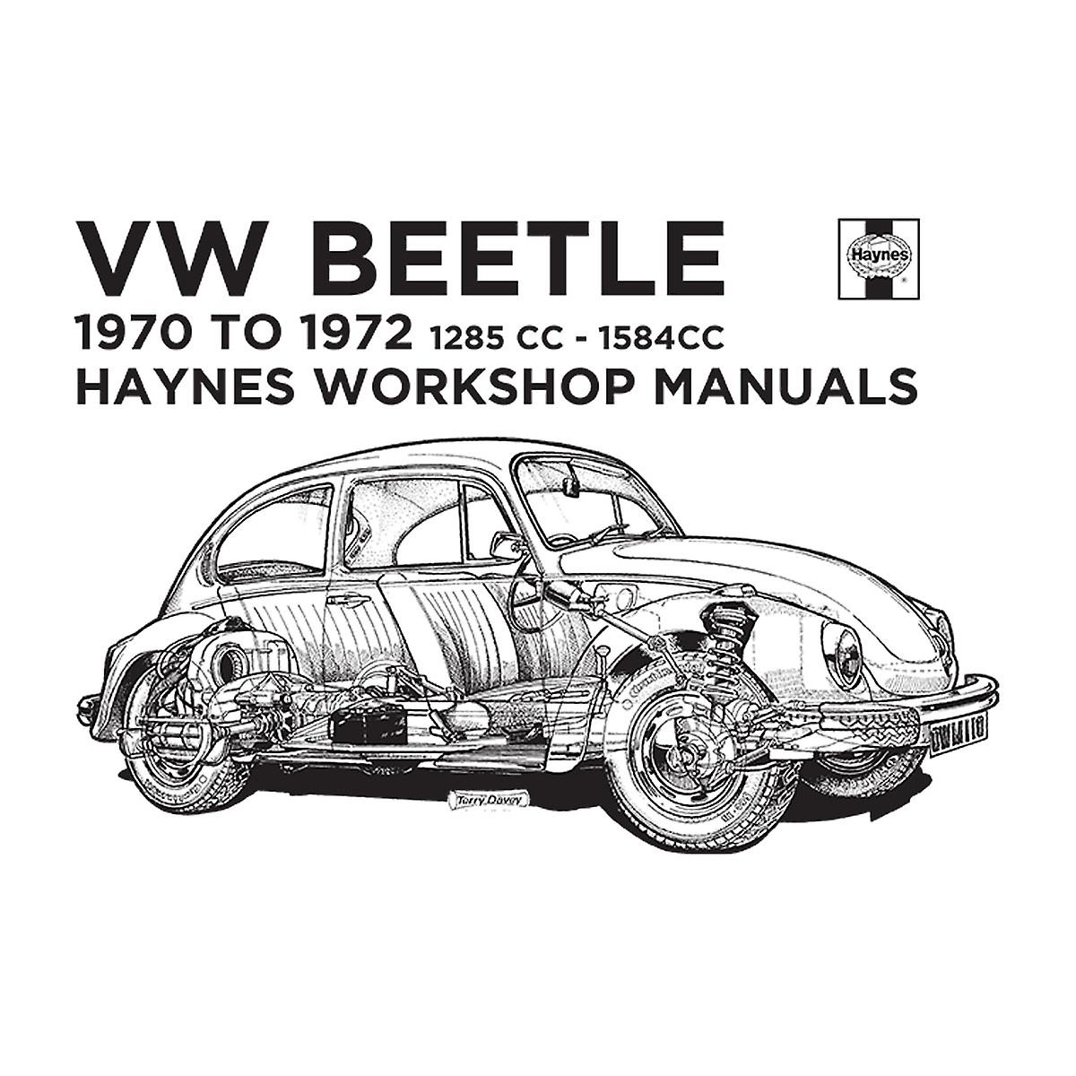 Haynes Workshop Manual Vw Beetle 70 To 72 Black Kid S T
