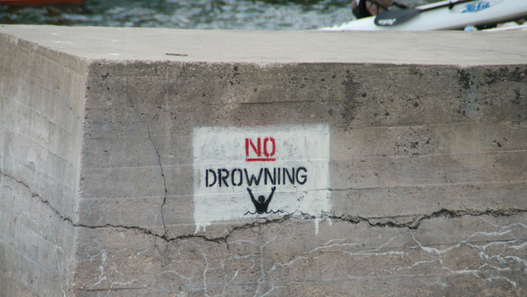 Image result for no drowning sign