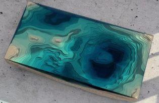 [家具設計]玻璃海洋桌「The Abyss Table」