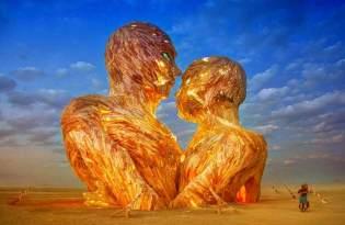 [裝置藝術]大型火燒木雕創作