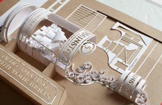 [包裝設計]立體紙雕企畫封面文宣
