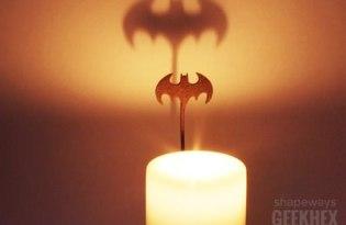[創意設計]蝙蝠俠燭光倒影
