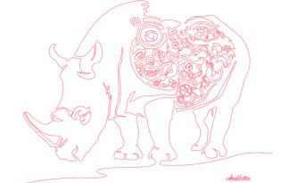 [插畫創作]奧下和彥「一筆呵成」繪畫作品