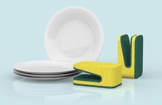 [廚具設計]正反兩面方便清洗鴨嘴海綿