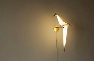 [燈具設計]紙鶴小鳥燈