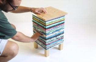 [家具設計]編織暖暖小茶几「CROKÉ」