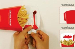 [包裝設計]薯條盒新包裝「ketchup Presser」