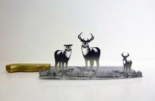 [極致工藝]菜刀立體金屬雕塑藝術