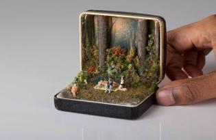 [極致工藝]戒指盒袖珍世界藝術