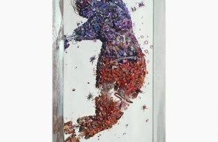 [視覺傳達]唯美舞者玻璃裝置藝術