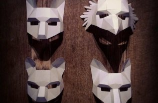 [平面設計]3D變裝紙面具