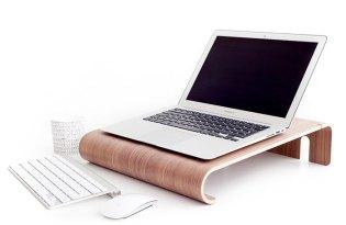[產品設計]超有質感的木頭筆電桌