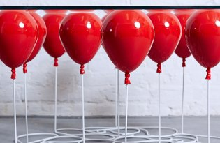 [家具設計]氣球玻璃桌