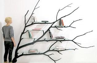 """[家具設計]""""樹""""書架裝置藝術"""