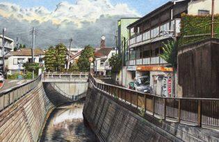 [插畫藝術]日本設計「色鉛筆東京街景圖」