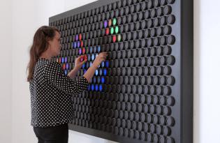 [裝置藝術]五顏六色LED彩光牆