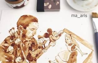 [圖文插畫]咖啡視覺藝術畫作