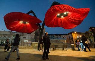 [創意行銷]大紅花燈裝置藝術