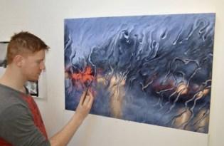 [平面設計]雨天油畫視覺藝術