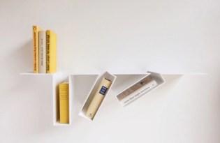 [家具設計]傾斜書架裝置藝術