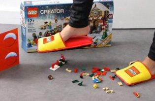 [產品設計]LEGO樂高防踩傷拖鞋