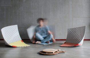 [產品設計]WOBBLE-UP泡棉編織坐墊
