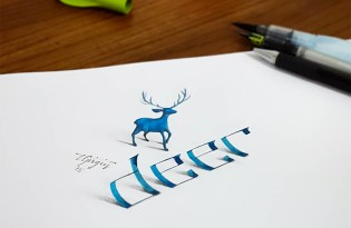 [平面設計]立體文字插畫藝術