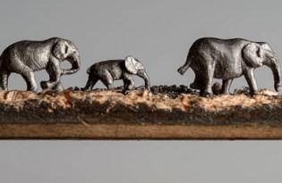 [設計工藝]動物鉛筆雕塑藝術