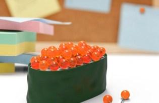 [文創設計]鮭魚卵壽司創意圖釘組