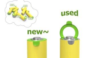 [包裝設計]電池創意電量拉環