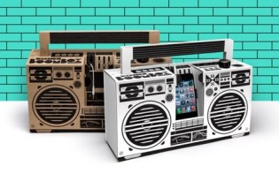 [產品設計]Berlin Boombox手機紙音響