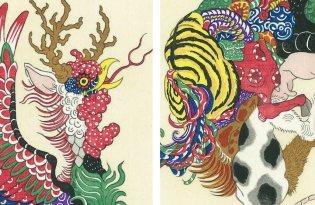 [平面設計]日本出品「十二生肖浮世繪插畫藝術」