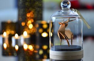 [工藝設計]玻璃瓶動物折紙藝術
