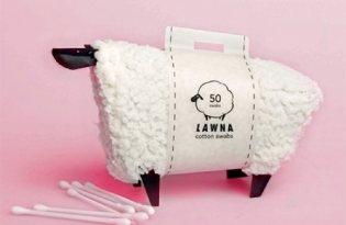 [包裝設計]台灣品牌「LAWNA創意綿羊棉花棒」