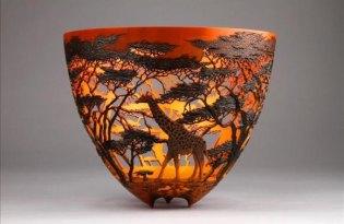 [裝置藝術]非洲大草原動物木雕設計