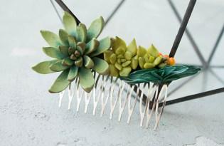 [文創設計]多肉植物髮飾工藝