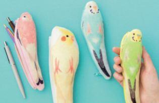[文創設計]超萌鸚鵡文具筆袋