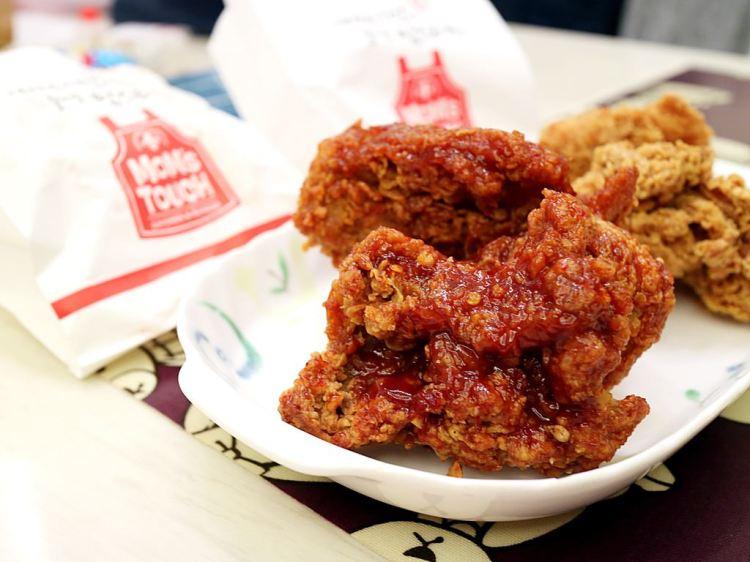 (台南。永康區美食)MoM's TOUCH:韓國正宗速食餐廳,在台南就到吃到韓味十足的韓式炸雞和韓國炸雞堡|韓國速食店|近南台科大|