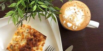 菓溱是咖啡|位於孔廟園區旁的文青早午餐店,老闆的咖啡拉花~郝塞力!|告白咖啡很厲害!