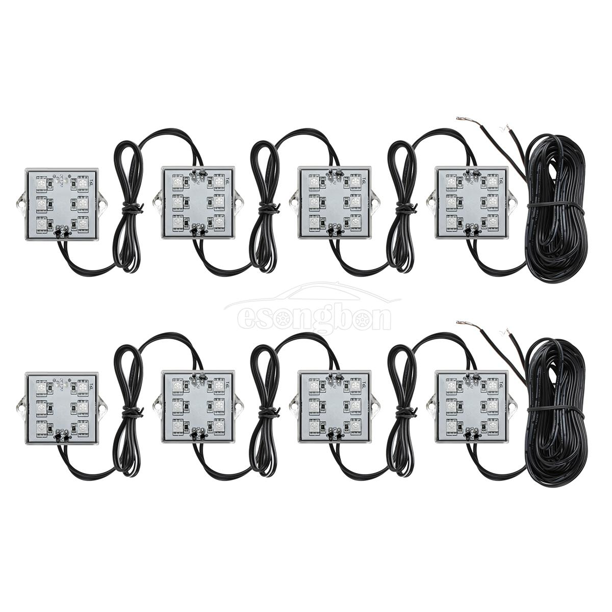 Universal 8pc Pickup Truck Bed 48 Led Cargo Area Rear