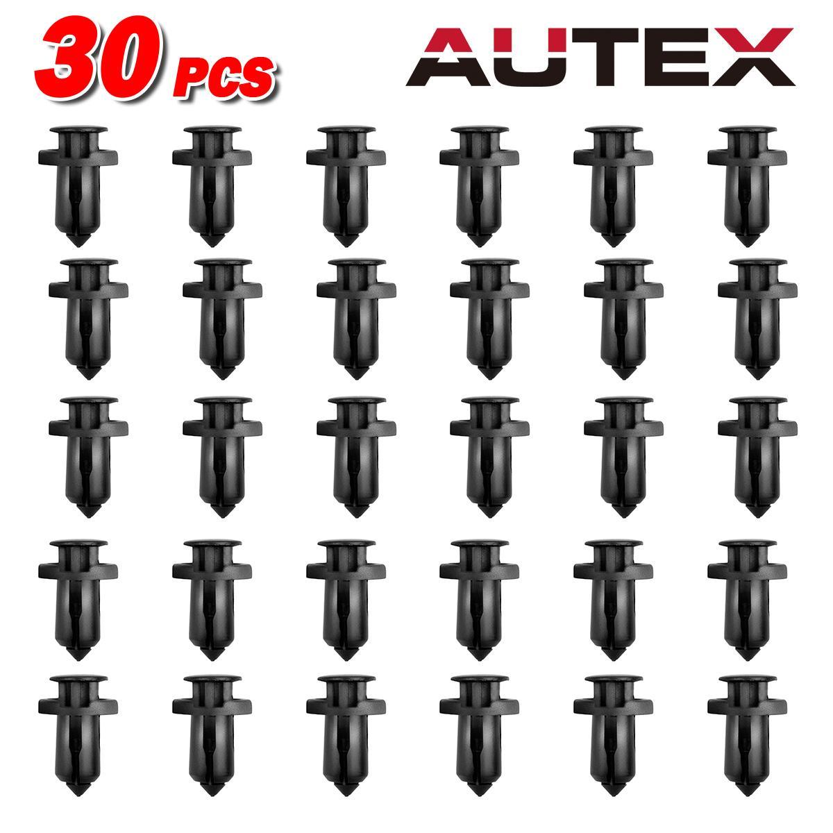 30x Bumper Cover Trim Plastic Push Retainer Rivet For