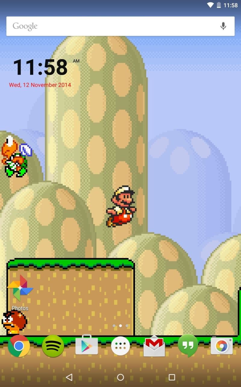 Mario Live Wallpaper Classic Side Scrolling Action For Your Home Or
