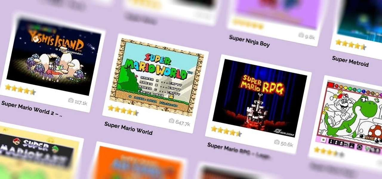 Play Your Favorite SNES Games In Any Web BrowserNo