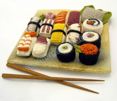 Crochet and Knit Sushi