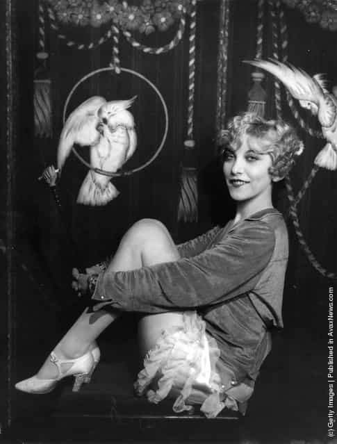 Cabaret artist, singer and actress Frances Day in cabaret costume