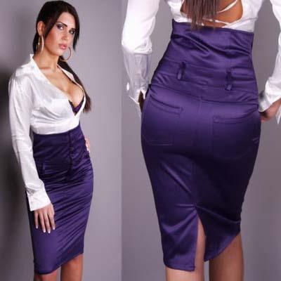 определенное указание: юбка карандаш с высокой талией фото ...
