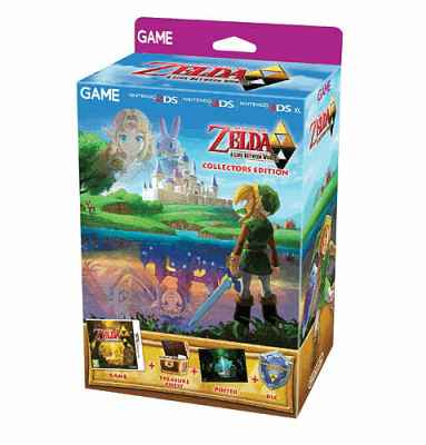 The Legend of Zelda: A Link Between Worlds GAME Exclusive Collector's Edition Nintendo 3DS Cover Art